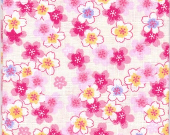 Cherry Blossom Material - 100% Cotton - 30cm x 50cm (11.8 x 19.7 inches) - Reference 1