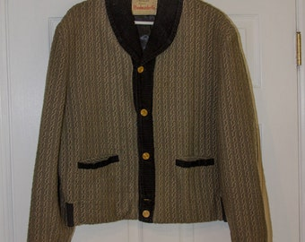 Vintage 1950s Mens Rockabilly Sweater Jacket
