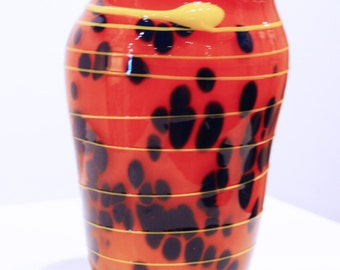 Primary Colors Blown Glass Vase