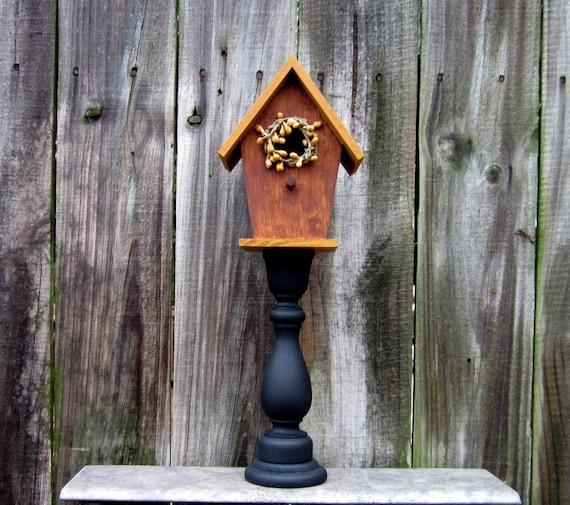 Birdhouse Decorative Indoor Pedestal By Countrylanehomedecor