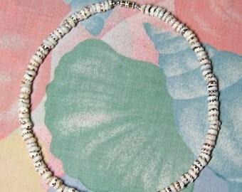 "Native Treasure Tiger Puka Shell Necklace Surfer Beach Choker - 6-7mm (1/4"")"