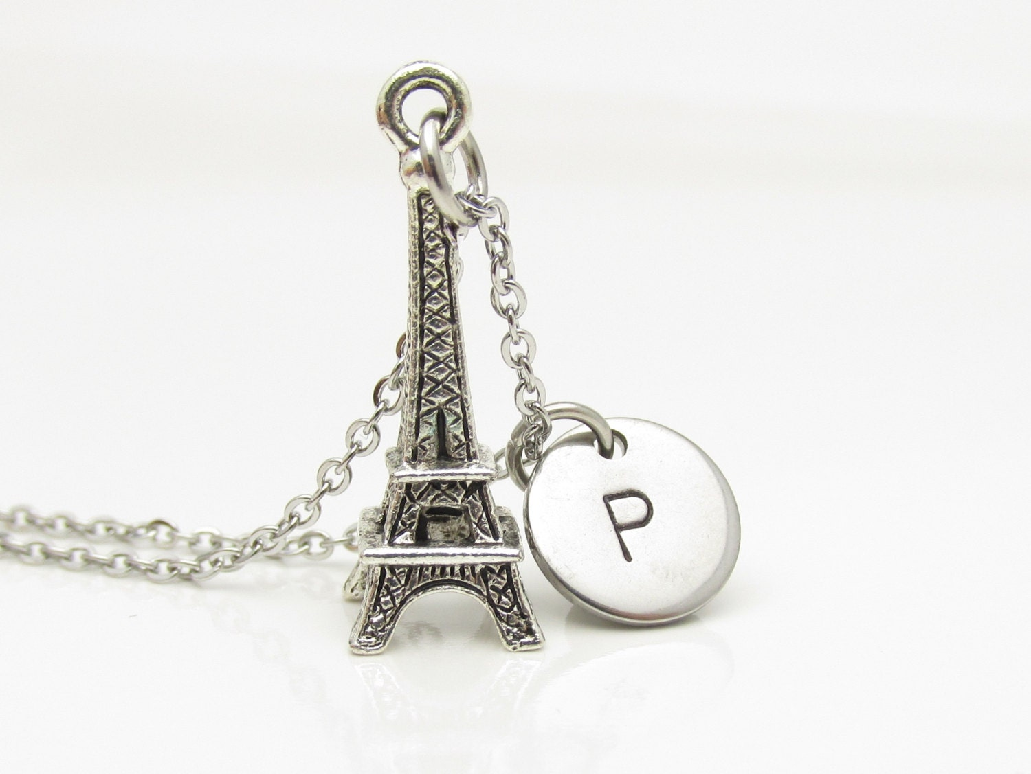 eiffel tower necklace silver eiffel tower pendant with