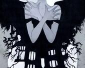 Madeline Usher- Edgar Allan Poe 6x11 Fine Art Print