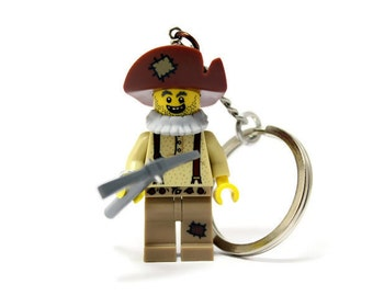 Prospector Keychain - made from Series 12 LEGO® Minifigure, Goldminer Keychain