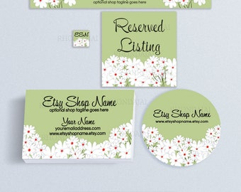 Etsy Shop Banners - Etsy Banners - Etsy Shop Advance Startup Branding Set  With Business Card and Label Designs - Floral 23 Bundle