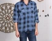Perfect Blue Plaid Cotton Flannel - M