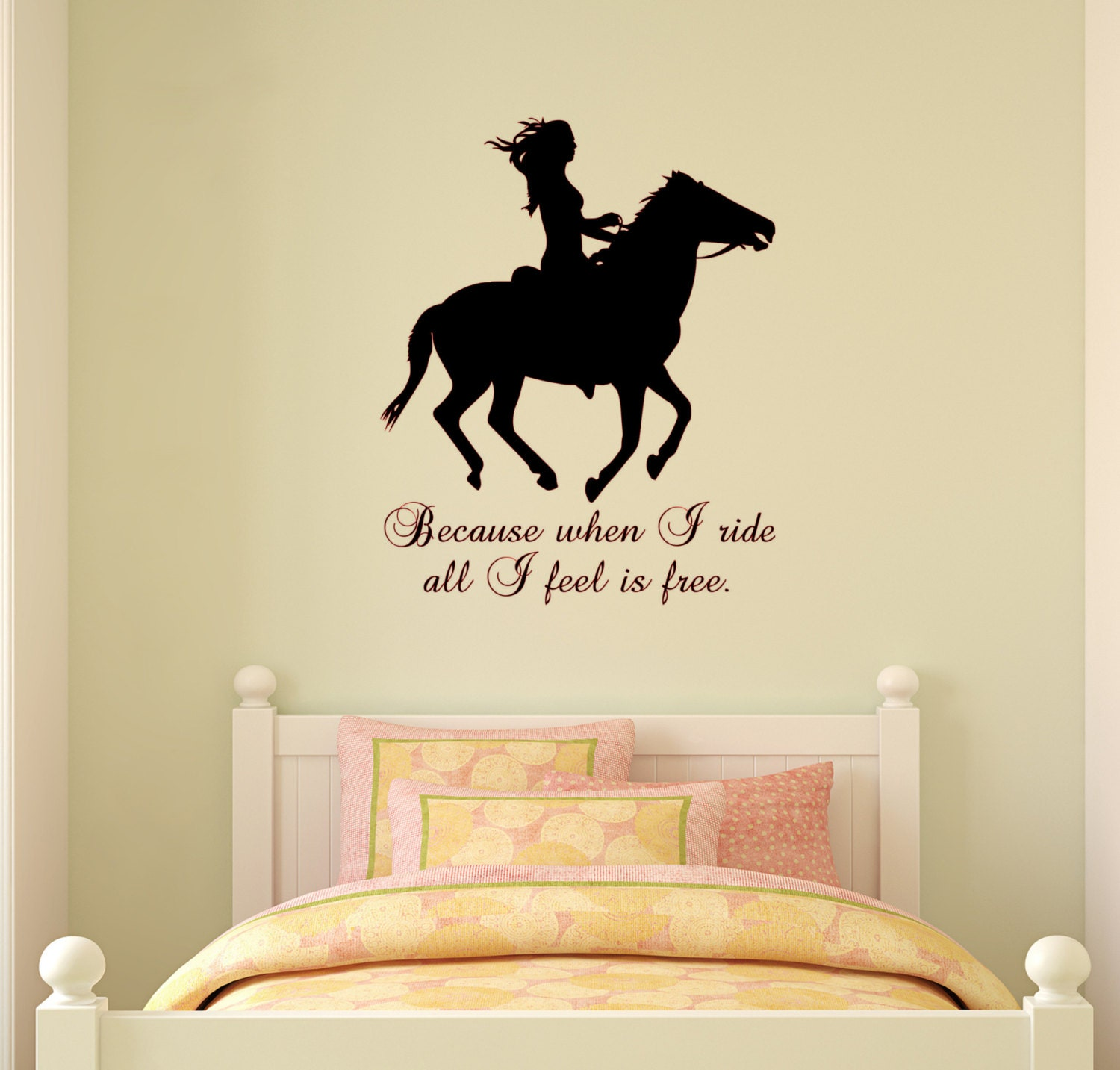 Horse wall decal Horse quote sticker Wall words Girls Teen