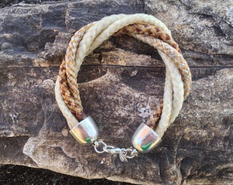 6.5 Inch Twisted Four Strand Horse Hair Braided Horsehair Bracelet