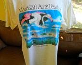 St Petersburg flamingos Mainsail Arts Festival 1988 vintage tshirt - size medium