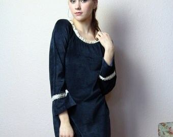 pajama sleep shirt in cotton velour - made to order