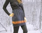 Cozy Knit Winter Mini Skirt