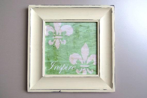 Fleur De Lis Art Inspirational Art Inspire Framed Print