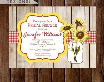 sunflower invitation  etsy, Bridal shower invitations
