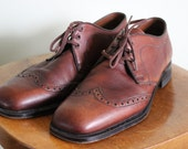 FREE SHIPPING!!  Men's Rand Brown Leather Dress Shoes   Size 8