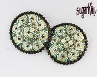 Aqua Brocade Mandala Nipple Pasties - SugarKitty Couture
