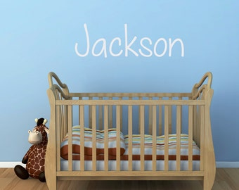 Name Decal - Boy Name Wall Decal - Personalized Name Wall Sticker - 4