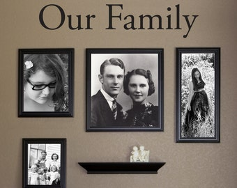Our Family Wall Decal - Our Family Wall Art - Picture Wall Decal - Medium