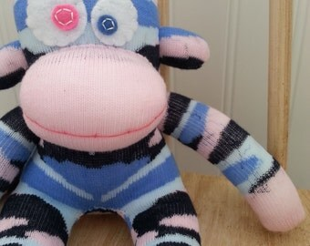 Blue and Pink Camo Sock Monkey