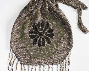 Antique Beaded Evening Bag
