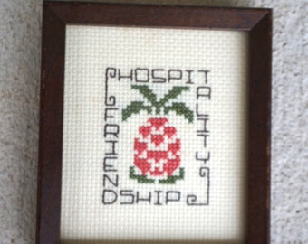 Framed Hospitality Needlepoint
