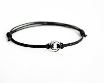 Love Knot bracelet, Love Knot Anklet, Karma Circle Bracelet, Karma Circle Anklet (many color to choose)