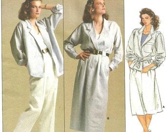Vogue 1542 Vintage Designer Sewing Pattern By Anne Klein // Jacket Skirt Pants // Size 12 Bust 34
