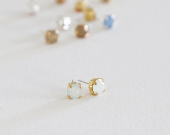 Classic Size Sparkling Swarovski Stud Earrings, Bridesmaid gifts, simple, sparkle, posts, wedding, jewelry, gift, under 30, crystal, jewels