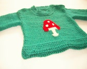 Hand Knitted Baby Sweater  Hand knit Baby wool sweater   READY TO SHIP - Newborn to 4 Months