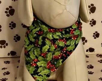 Dog Bandana Christmas, Winter, holly