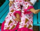 Matching Girl and Doll Clothes. American Girl Matching Pajama Pant Set for Girl and Doll. Sizes 2T-12. Flannel pants. Snowman print