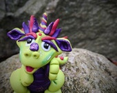 Polymer Clay Dragon 'Rita' - Limited Edition Collectible