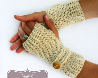 Fingerless Gloves Crochet Pattern No.914 Glove Crochet Pattern Straps Digital Download PDF