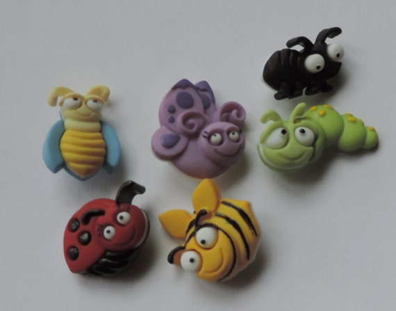 "Bug Buttons, Packaged Novelty Button Assortment ""Bug Eyed"" by Dress It Up Style 6551, Sewing, Crafting Buttons, Embellishments, Shank Back"