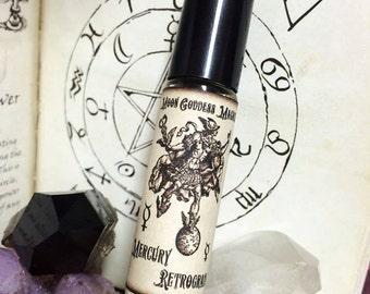 MERCURY RETROGRADE Relief Oil~ Planetary Magick~ Hour of Mercury~ Retrograde Defense~ Moon Goddess Magick  ~1/3 oz Aromatherapy Roll on