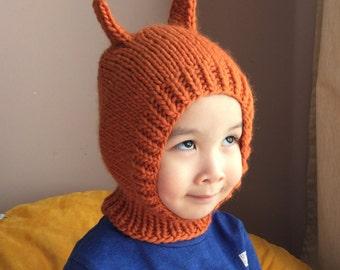 NEW 18-24months Happy Squirrel wool hat  #17