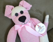 Puppy Dog Sock Monkey Doll in Pink