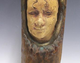 """Stoneware Sculpture """"Let's Face It"""""""