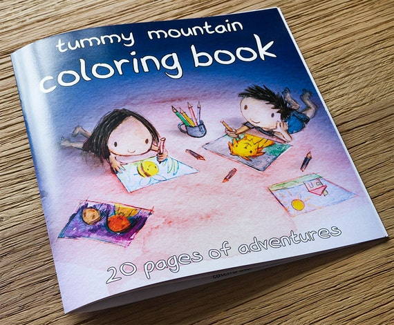 Items Similar To Tummy Mountain Coloring Book Colouring