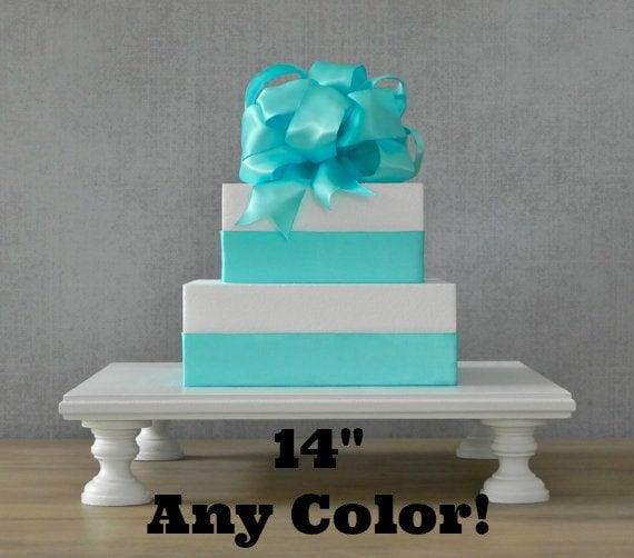 any color cake stand cupcake stand square white wooden rustic wedding