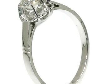 Art Deco platinum diamond engagement ring ref.13120-0001