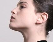 Intersect Ear Cuff. Ear Climber. Minimalist Ear Bar.