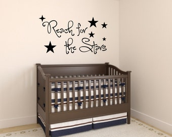 Vinyl wall decal Reach for the stars wall decor D63