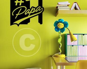Vinyl wall decal #1 Papa wall decor B69