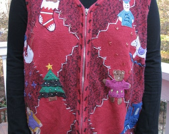 tacky sweater vest, tacky vest, christmas vest, tacky christmas vest, tacky chsritmas sweater party, tacky sweater party, ugly sweater,