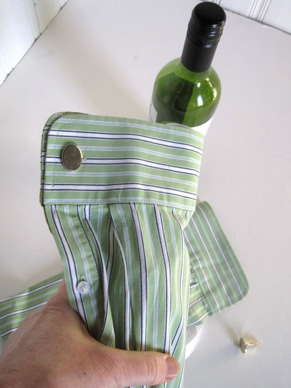 Bottle Gift Bag - Reusable Gift Bag - Liquor Bottle Bag - Cuff Link Presentation Gift