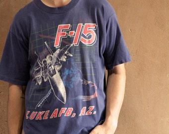 F-15 vintage men's t-shirt epic flight FIGHTER JET  t-shirt