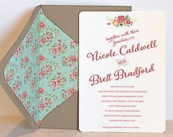 Vintage Floral Invitation