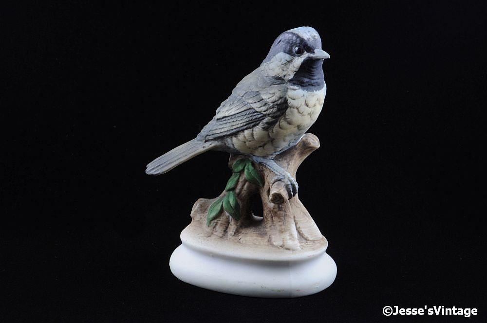 Vintage lefton bird figurine chickadee lefton china figurine - Chickadee figurine ...