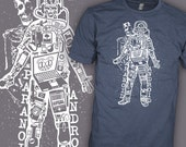 RADIOHEAD Band Shirt - Paranoid Android - Skeleton Skull - Emo Rock T-Shirt
