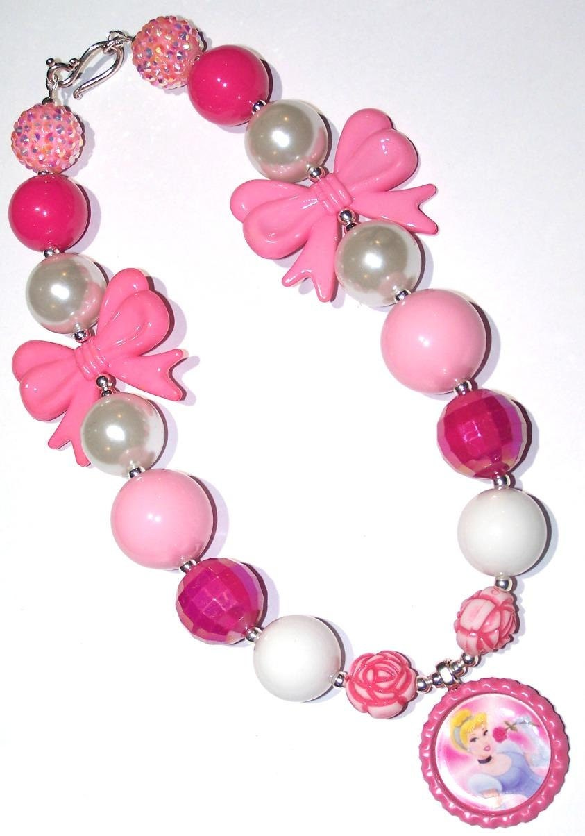 cinderella chunky necklace princess necklace by